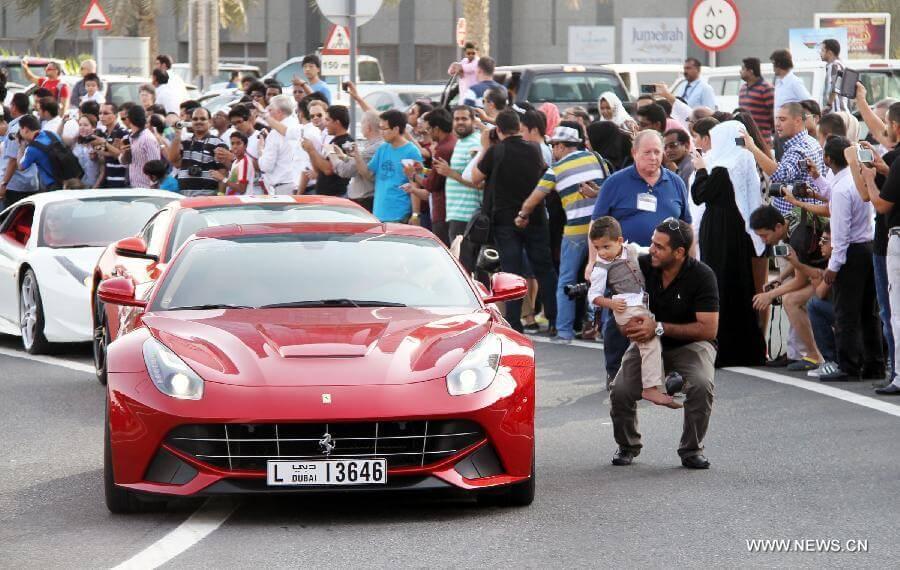 luxury-car-parade